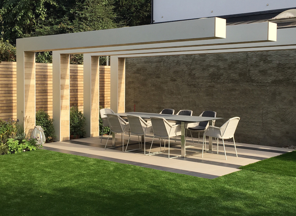 Square Garden Design Clean Lines London