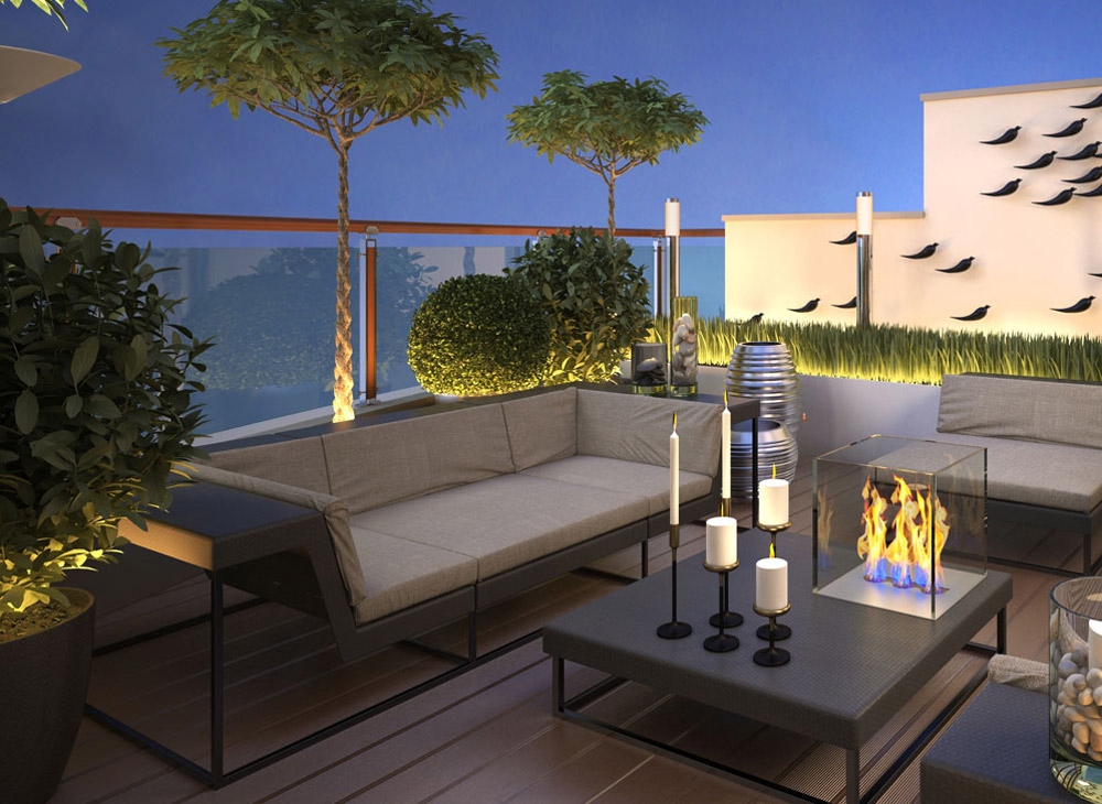 Terrace balcony square garden design west london for Terrace balcony
