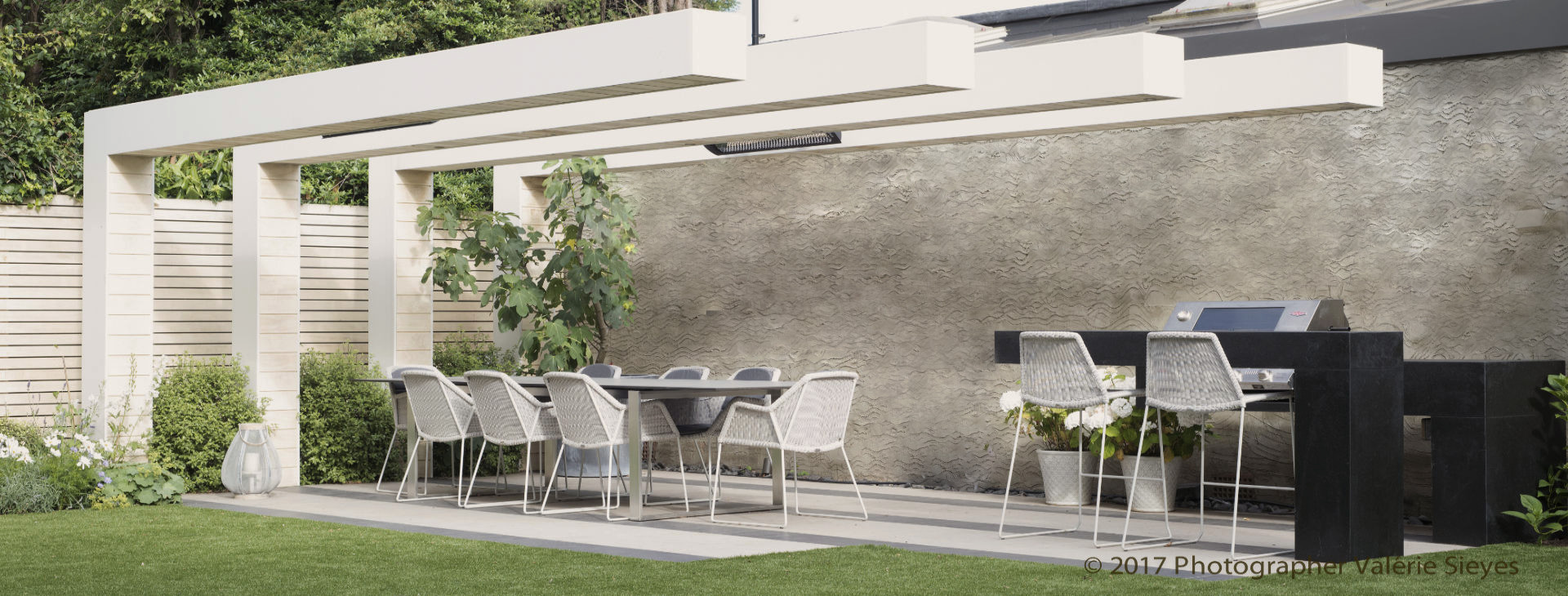 We provide garden design services for private and commercial clients
