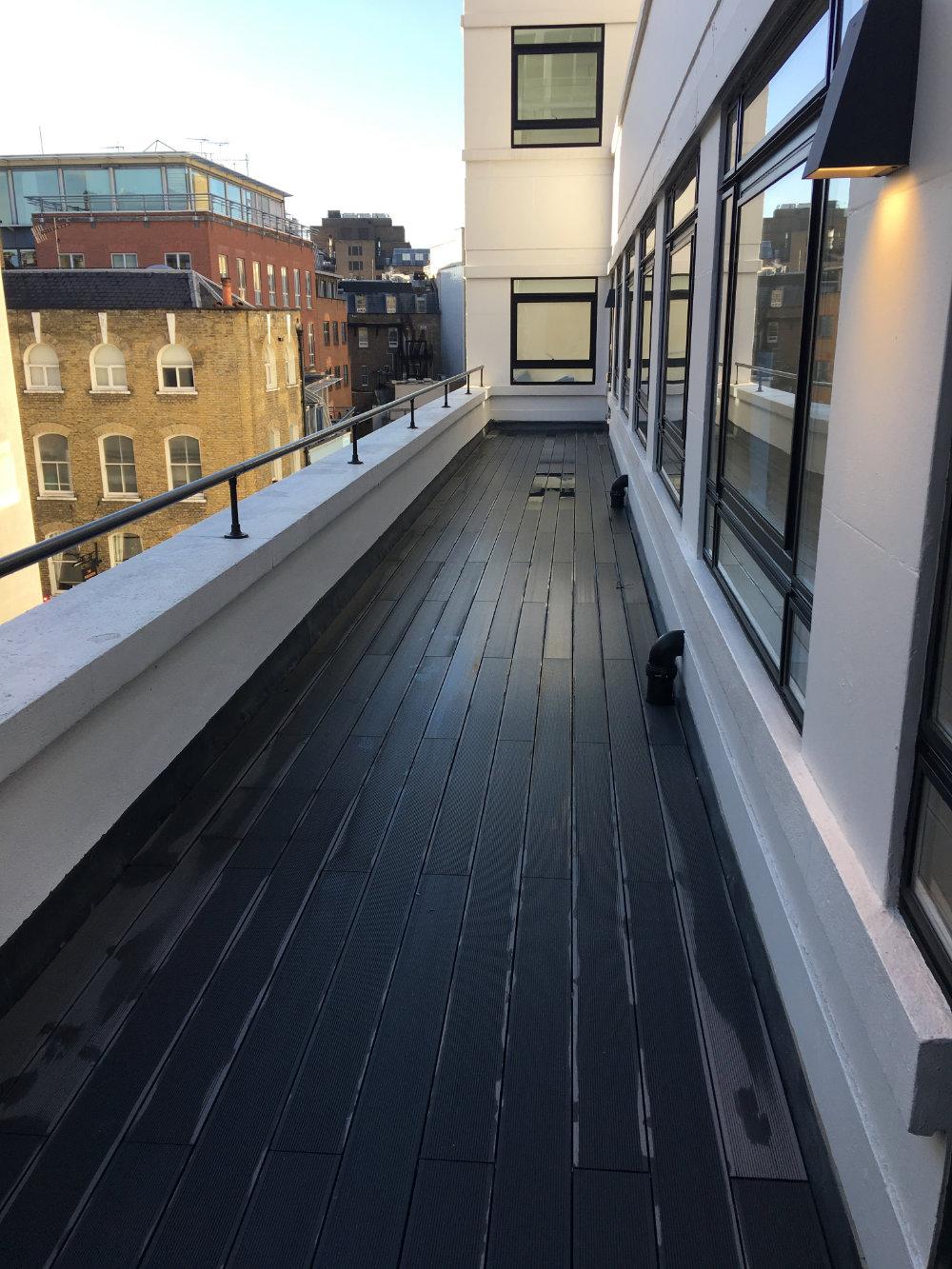 Roof terrace in Mayfair Before